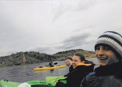 Trevor kayak