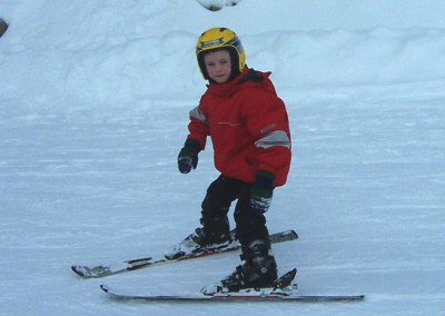 trevor skiing